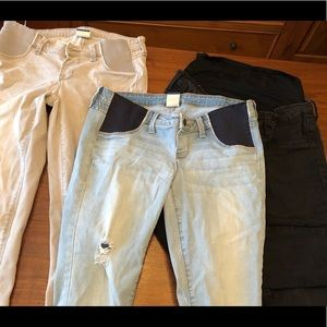 Lot 3 pair Old Navy Maternity skinny  jeans Pants